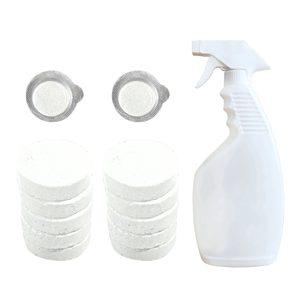 Limpador de spray multi-efervescente