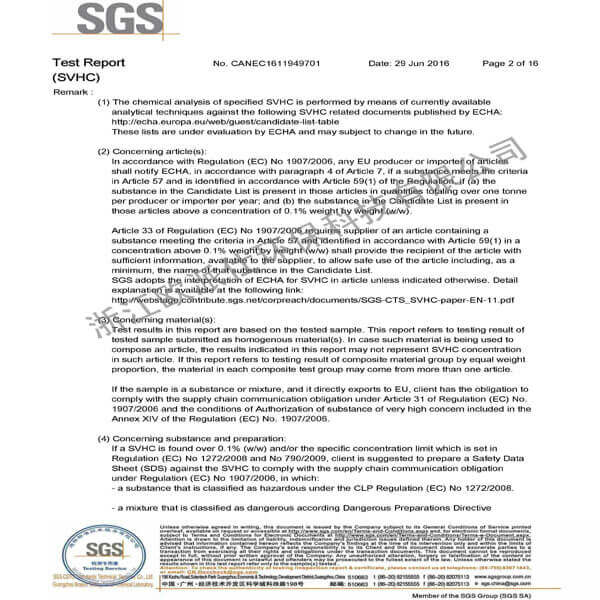 SGS Certificate2