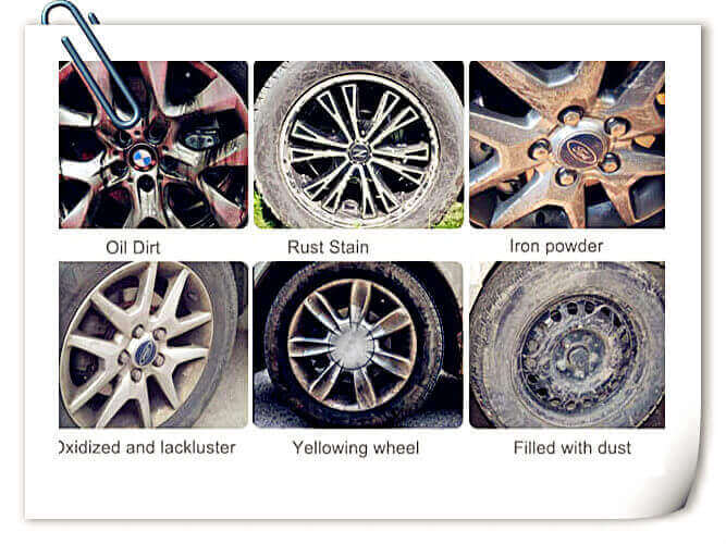 You should use the professional car wheel cleaners